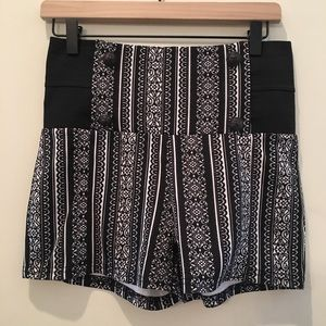 Eye candy high waisted shorts with anchor buttons